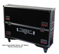 Gator Cases G-TOURLCDV2-4350-X2 G-TOUR case designed to easily adjust and fit two LCD, LED or pla...