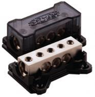 Sound Quest by Stinger SQDB2034 Distribution Wire Block (2) 1/0 Gauge Inputs & (3) 4 Gauge Ou...