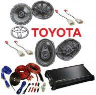 Toyota 4 Runner 2003-2009 Kicker Factory Coaxial Speaker Replacement DS65 & DS693 Package wit...