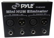 Pyle Home PHE400 Ultra-Compact Hum / Noise Eliminator 2-Channel Box w/ XLR Jacks