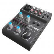 PYLE-PRO PAD20MXU 5Ch Compact Audio Mixer with Integrated USB Interface