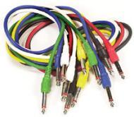 Peavey Quality 3 Foot Molded Shielded Color-Coded Patch Cable (6 pack) (54570)