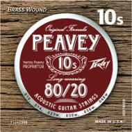 Peavey 80/20 Acoustic Brass-Wound 10s Set with Extended String Life (578550)