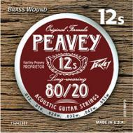 Peavey 80/20 Acoustic Brass-Wound 12s with Balanced & Extended Life (578670)