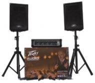 "Peavey Audio Performer Pack All-In-One Package Includes Mixer 2 10"" Speakers Two Mics & ..."