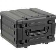 "SKB Cases 3SKB-R06U20W 6U Roto 20"" Deep Shockmount Rolling Shock Rack Case with Wheels (3SKB..."