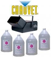 Chauvet Lighting DJ B-550 Bubble King Machine with (4) Gallon Bubble Fluid Juice Package