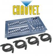 Chauvet DJ Stage Designer 50 Lighting 48 Channel DMX-512 Controller with (4) DMX Cables Package
