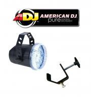 American DJ Lighting Snap Shot LED Variable Speed Strobe Flashing Light with Truss C Clamp Package