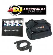 American DJ Lighting Quad Scan LED Multi Head Scan Color Light with Arriba Bag & DMX Cable