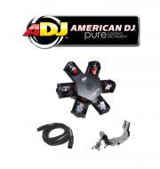 American DJ Nucleus LED Centerpiece Scanner Effect Light with Clamp & DMX Cable Package