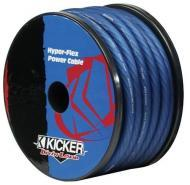 Kicker Car Audio PWB050 0-Gauge Power Wire Cable Heat-Proof with Blue Hyper-Flex Jacket