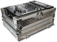"Odyssey FZ12MIXDIA Flight Zone 12"" DJ Mixer Case Silver Diamond Plated"