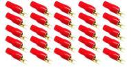 Stinger S4GBSBR Car Audio Gold 4 Gauge Power Wire Red Spade Terminals (25) Pack