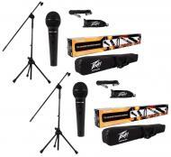 (2) Peavey PV-MSP1 Complete Microphone, Stand, Bag & XLR Combo Stage Package