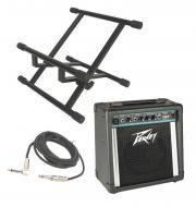 "Peavey Solo Electric Guitar Combo 12W Amp 8"" Speaker with 1/4"" Instrument Cable & S..."