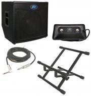 "Peavey TNT115 Bass Guitar Combo 600 Watt Amp 15"" Speaker with Footswitch, Stand & 1/4&qu..."
