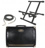 "Peavey Ecoustic E208 Acoustic Combo 30 Watt Amp (2) 8"" Speakers with Stand & 1/4"" J..."
