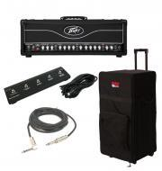 "Peavey Butcher Electric Guitar 100 Watt 2CH Tube Amplifier Head with Footswitch, 1/4"" Cable ..."