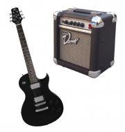 Peavey SC2 Electric 6 String Dual Pickup Guitar Black Finish with PVAMP20 Practice Amp