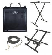 "Peavey KB4 Electric Keyboard Combo 75 Watt 3 Channel Amp 15"" Speaker with Amp Stand, XLR Cab..."
