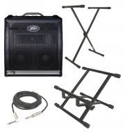 "Peavey KB5 Keyboard Combo 150 Watt 4CH Amp (2) 10"" Speakers with 1/4"" Cable, Amp Stand ..."