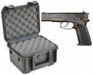 SKB 3I-0907-6B-L Waterproof Plastic Gun Case for FN HP-DA Semi-Auto 9mm Handgun Pistol
