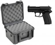 SKB 3I-0907-6B-L Waterproof Plastic Molded Gun Case for Sig Sauer SPC2022 Semi-Auto Compact 9mm H...