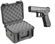 SKB 3I-0907-6B-L Waterproof Plastic Molded Gun Case for Glock 31 32 33 Semi-Auto .357 SIG Handgun