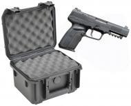SKB 3I-0907-6B-L Waterproof Plastic Gun Case for FNH USA Five-Seven Semi-Auto 5.7x28mm Handgun Pi...