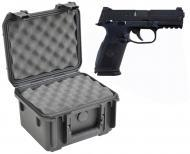 SKB 3I-0907-6B-L Waterproof Plastic Gun Case for FNH USA FNP-9 Semi-Auto 9mm Handgun Pistol