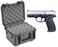 SKB 3I-0907-6B-L Waterproof Plastic Gun Case for FNH USA FNP-40 Semi-Auto .40 S&W Handgun Pistol
