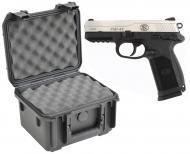 SKB 3I-0907-6B-L Waterproof Plastic Gun Case for FNH USA FNP-45 Semi-Auto .45 ACP Handgun Pistol