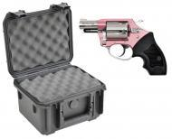 SKB 3I-0907-6B-L Waterproof Plastic Gun Case for Charter Arms Chic Lady Five Shot .38 Special Rev...