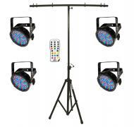 Chauvet DJ Lighting (4) SLIMPAR56 IRC IP Outdoor Par Can LED Wash Light with IRC Wireless Remote ...