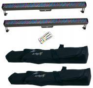 Chauvet DJ Lighting (2) COLORRAIL IRC Linear Color Wash Effect Light, IRC Wireless Remote & (...