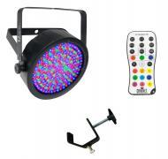 Chauvet DJ Lighting EZpar 64 RGBA Black Battery Powered Slim Can LED Light with IRC Wireless Remo...