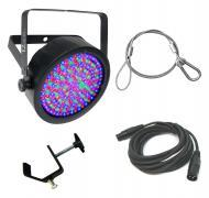 Chauvet DJ Lighting EZpar 64 RGBA Black Battery Powered Slim Can LED Light with DMX Cable, Truss ...