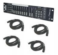 Chauvet DJ Lighting Obey 10 Compact 16 Channel DMX Light Controller with (4) DMX Cables