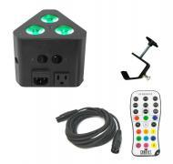 Chauvet DJ Lighting Wedge Tri Multi Color LED Wash Triangular Truss Accent Light with DMX Cable &...