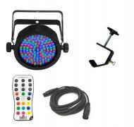 Chauvet DJ Lighting EZpar 56 Battery Powered RGB Color Wash LED Light with DMX Cable & Truss ...
