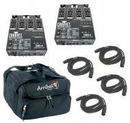 Chauvet DJ Lighting (2) DMX-4 Programable Dimmer / Relay Switch Pack with (4) DMX Cables & Ar...