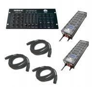 Chauvet DJ Lighting (2) PRO-D6 On / Off Dimmer 6 Channel Switch Relay Pack with (3) DMX Cables &a...