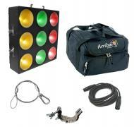 Chauvet DJ Lighting Core 3X3 Pixel Mapping Tri Color Wash Light Panel with Travel Bag, Clamp &amp...