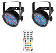 Chauvet DJ Lighting (2) SLIMPAR56 IRC IP Outdoor Par Can LED Wash Light with IRC Wireless Remote