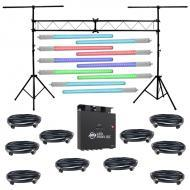 American DJ (10) LED Pixel Tube 360 Multi Color Changing LED Light with LED Pixel 10C, Lighting T...