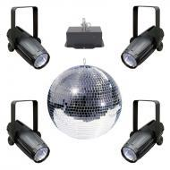 "American DJ M4040 Massive 40"" Mirror Disco Ball with HD MB40KG Heavy Duty Motor & (4) LE..."