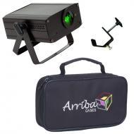 American DJ Micro Sky Green Laser Ceiling, Wall or Above Crowd Liquid Effect Light with Travel Ba...