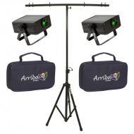 American DJ (2) Micro Sky Green Laser Ceiling, Wall or Above Crowd Liquid Effect Light with Trave...
