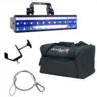 American DJ LED UV GO Battery Powered Ultraviolet Black Light Fixture with Travel Bag, Clamp &amp...